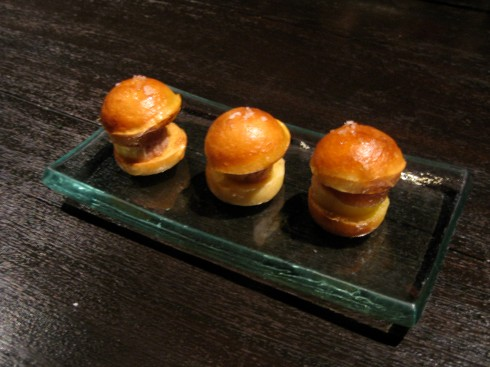Mini foie gras burger with honey was fantastic!!