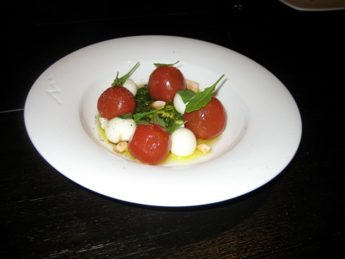 Caprese. The mozzarella cheese just melted in my mouth!