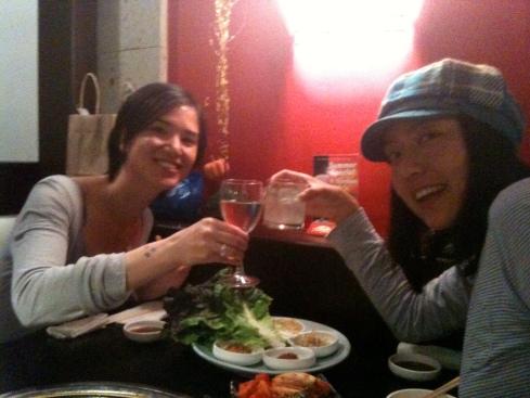 Miki and Yukiko  Cheers!!   美紀ちゃんと乾杯!!