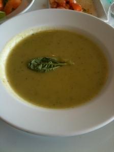 アスパラとポテトとバジルのスープ